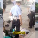 广州交警打算用膝盖跪压死民众,被曝光后,反指受害人违法